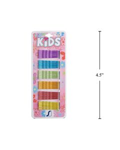 Kid's Stain Finish Colored Bobby Pins ~ 60 per pack