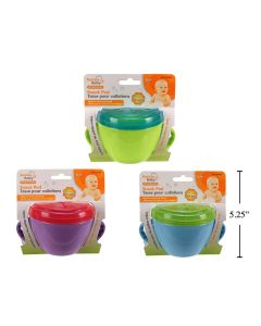 Baby Non-Spill Snack Cup w/Handles