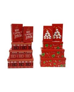 Christmas Rectangular Gift Boxes ~ 5 per pack