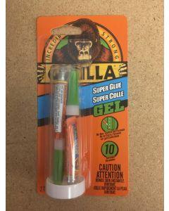 Gorilla Super Glue Gel ~ 2 x 3gr Single Use Tubes