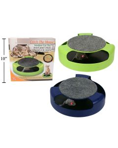 """Cat Action Toy with Scratch ~ 10"""" Diameter"""