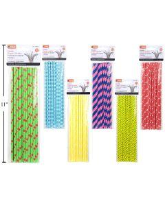 Flexible Paper Straws ~ 20 per pack