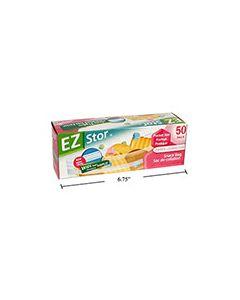 "EZ Stor Zipper Seal Storage Bags - 6-1/2"" x 3-1/4"" ~ 50 per box"