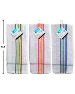 Luciano Striped Waffle Tea Towel ~ 1 per pack