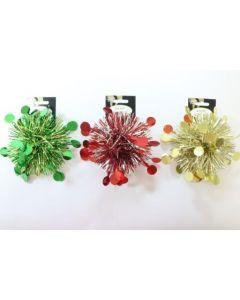 "Christmas PVC Tinsel Bows - 5"" ~ 2 per pack"