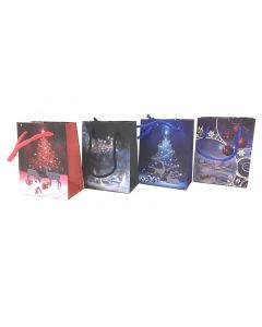 Christmas Small Gift Bag ~ Reindeer Night Scene