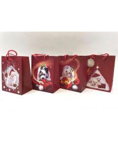Christmas Medium Gift Bag ~ Puppies/Kittens