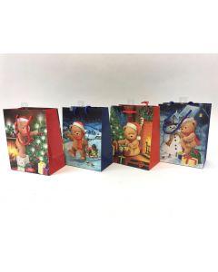 Christmas Medium Gift Bag ~ Teddy Bears
