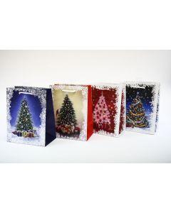 Christmas Medium Gift Bag ~ Christmas Trees