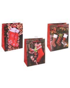 Christmas Medium Gift Bag ~ Christmas Stockings