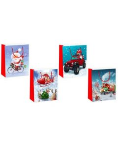 Christmas Medium Gift Bag ~ Transportation