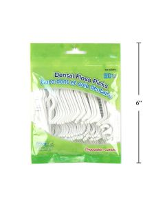 Dental Floss Picks - Mint Flavoured ~ 50 per bag