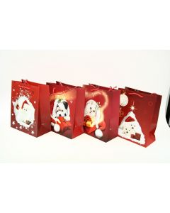 Christmas Large Gift Bag ~ Puppies/Kittens