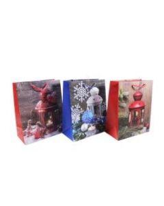 Christmas Large Gift Bag ~ Christmas Lanterns