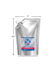 Germs Be Gone Hand Sanitizing Gel Refill Bag ~ 1 Litre / 33.8oz