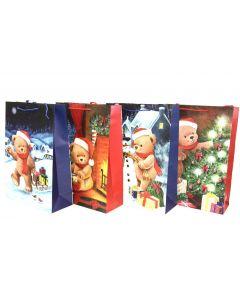 Christmas Jumbo Gift Bag ~ Teddy Bears