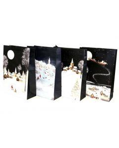 Christmas Jumbo Gift Bag ~ Santa Night Scenes