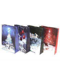 Christmas Jumbo Gift Bag ~ Reindeer Night Scene