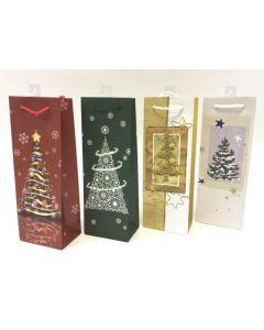 Christmas Bottle Gift Bag ~ Trees