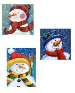 Christmas Jumbo Super Wide Gift Bag ~ Snowman