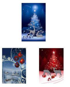 Christmas Jumbo Super Wide Gift Bag ~ Night Scene