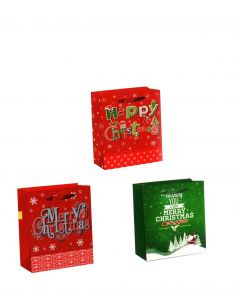 Christmas Horizontal Jumbo Super Wide Gift Bag ~ Merry Xmas