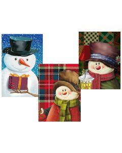 Christmas Horizontal Jumbo Super Wide Gift Bag ~ Snowman