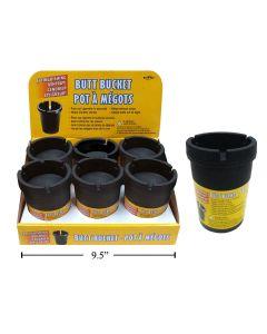 Butt Bucket Extinguishing Ashtray - Black Only ~ 6 per display