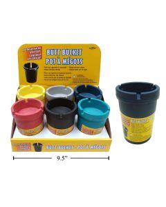 Butt Bucket Extinguishing Ashtray - Multi Color ~ 6 per display