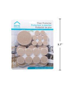 Felt Floor Protectors Self Adhesive - Assorted Sizes ~ 56 per pack