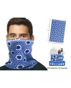 Adult Neck Gaiter ~ Blue Kal Tie-Dyed