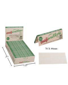 MojiMellow Natural Unbleached Rolling Paper - 50 per pack - 78 x 44mm ~ 25 packs per case
