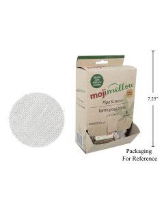MojiMellow Replacement Silver Pipe Screens - 5 per pack ~ 100 pack per display