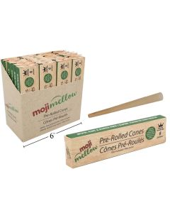 MojiMellow Pre-Rolled Cones with Filter - 6 per pack ~ 24 per display