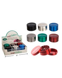 """MojiMellow 2"""" Alloy Grinder with Built-In Screen ~ 3 Part"""