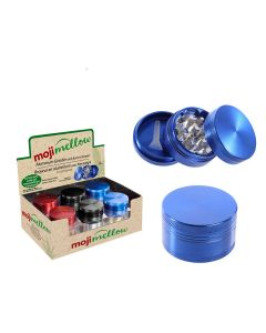 """MojiMellow 2"""" Aluminum Grinder with Built-In Screen ~ 3 Part"""