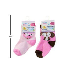 Baby Socks - 0-12 months ~ Girls ~ 2 per pack