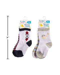Baby Socks - 0-12 months ~ Boys ~ 2 per pack