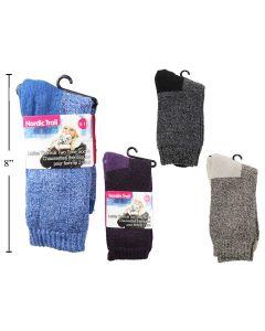 Ladies Thermal 2-Tone Socks