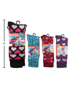 Girl's Thermal Crew Socks ~ Size 7-9