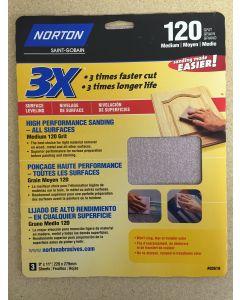"High Performance Sandpaper ~ 9""x11"" ~ 120 grit"