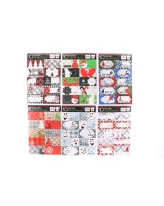 Christmas Foil Peel & Stick Tags ~ 10 per pack