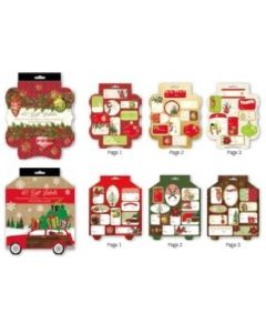 Christmas Peel & Stick Tags Booklet Style ~ 60 per pack