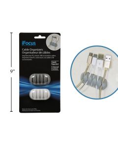 iFocus Silicone Cable Organzier ~ 2 per pack