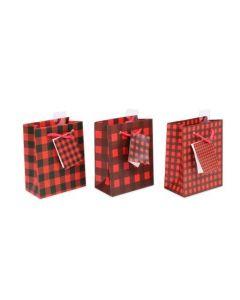 Christmas Small Gift Bag ~ Buffalo Plaid