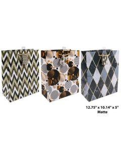 Large Gift Bag ~ Geometric & Circles