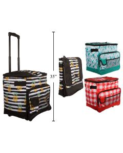 Insulated Picnic Cooler Trolley Bag with Handle + Wheels ~ 40L