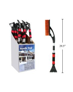 """Extendable Snow Brush with Ice Scraper ~  29.5"""" to 37"""""""