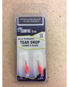 Tear Drops - Size 8 ~ Fluorescent Red