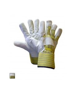 Leather Work Glove with Safety Cuff